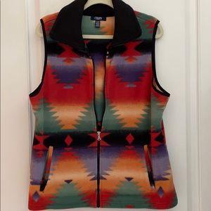 Excellent condition fleece Chaps Vest Aztec style